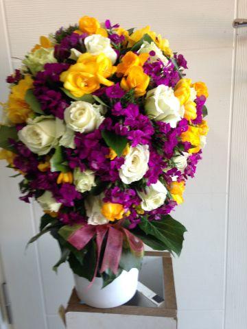 kır çiçeklerinden aranjman 1005